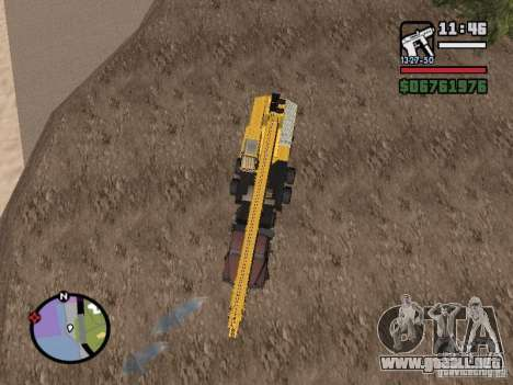 KrAZ-250 MKAT-40 para GTA San Andreas vista posterior izquierda