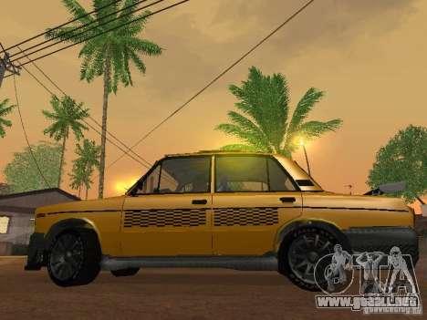 2106 VAZ tuning Taxi para la visión correcta GTA San Andreas