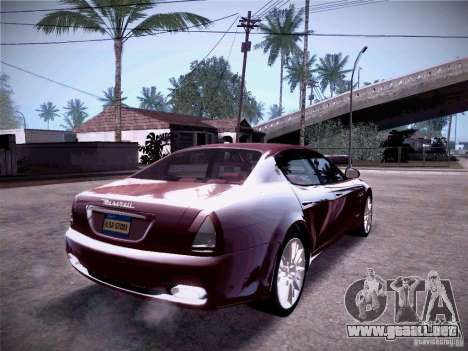 Maserati Quattroporte 2010 para visión interna GTA San Andreas
