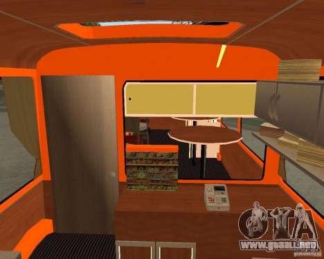 LIAZ-677 (momento de Café) para GTA San Andreas vista hacia atrás