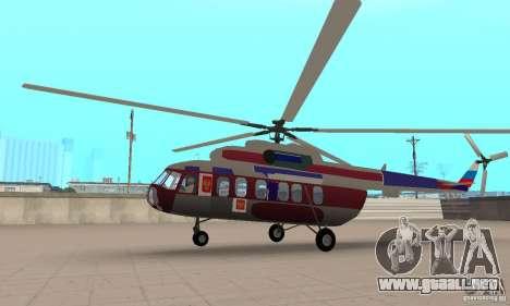 MI-17 civiles (Inglés) para GTA San Andreas vista posterior izquierda