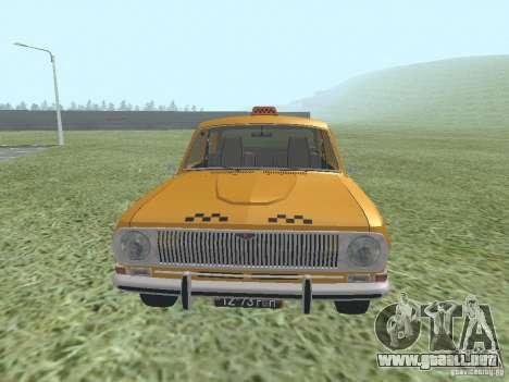 Taxi GAZ 24-01 para la visión correcta GTA San Andreas