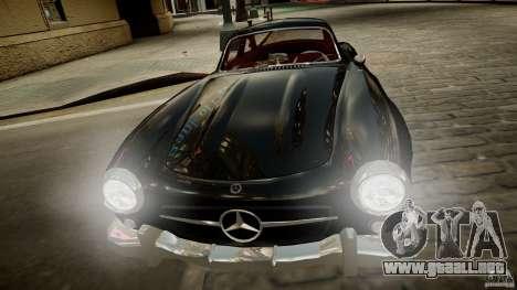 Mercedes-Benz 300 SL Gullwing para GTA 4 vista hacia atrás