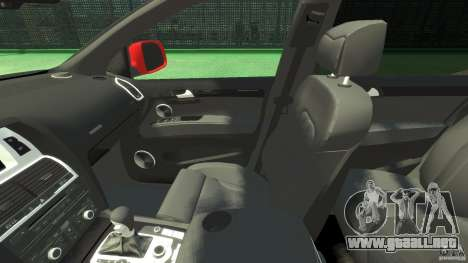 Audi Q7 v12 TDI para GTA 4 vista interior