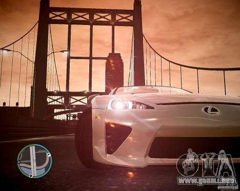 Lexus LF-A Roadster para GTA 4 visión correcta