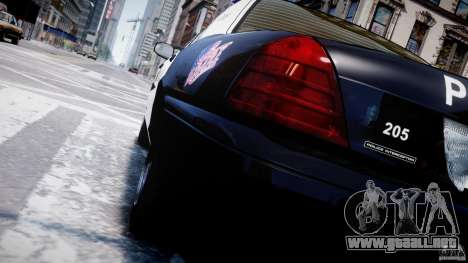 Ford Crown Victoria Massachusetts Police [ELS] para GTA 4 ruedas