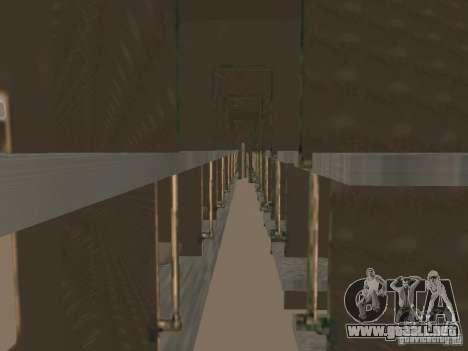 Coche de pasajeros RZD v2.0 para GTA San Andreas vista hacia atrás