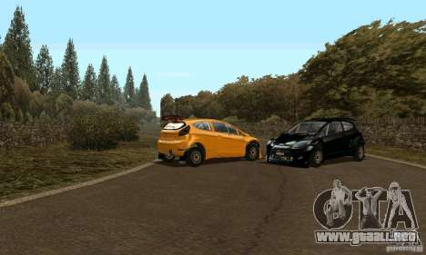 Ford Fiesta Rally para GTA San Andreas vista posterior izquierda