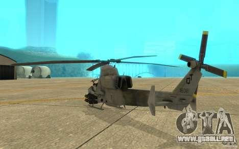 Cobra para la visión correcta GTA San Andreas