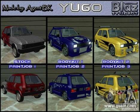 Yugo 45 Tuneable para GTA San Andreas