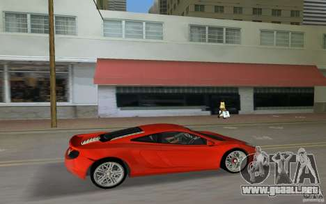 Mclaren MP4-12C para GTA Vice City vista lateral izquierdo