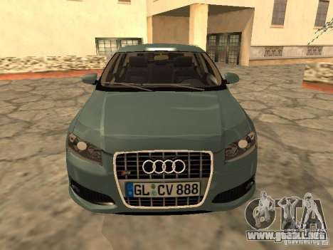 Audi S3 Sportback 2007 para GTA San Andreas left