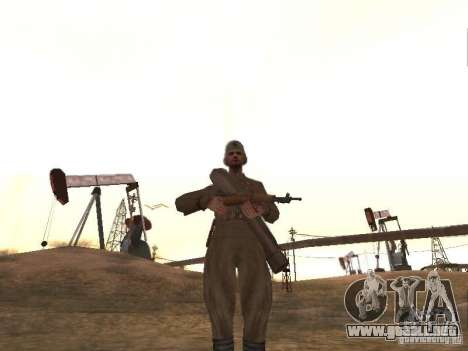 Un soldado soviético para GTA San Andreas segunda pantalla