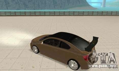 Toyota Scion tC Edited para la visión correcta GTA San Andreas