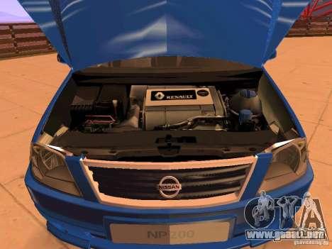 Nissan NP200 para vista lateral GTA San Andreas