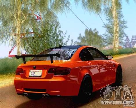 BMW M3 GT-S 2011 para GTA San Andreas left