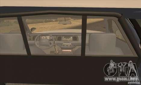 Ford Crown Victoria Arizona Police para GTA San Andreas vista posterior izquierda