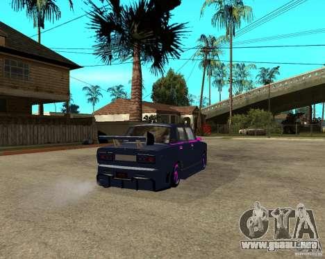 Vaz 2105 carrera callejera Tuning para GTA San Andreas vista posterior izquierda