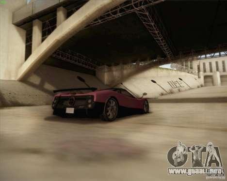 Pagani Zonda F V1.0 para la vista superior GTA San Andreas