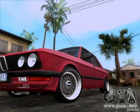 BMW 5-er E28 para la vista superior GTA San Andreas