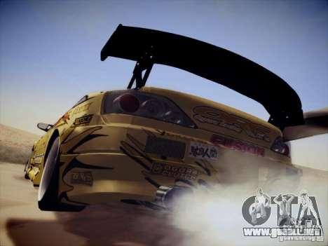Nissan Silvia S15 Top Secret v2 para GTA San Andreas vista posterior izquierda