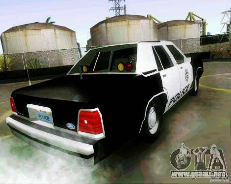 Ford Crown Victoria LTD 1991 LVMPD para GTA San Andreas left