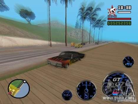 Speedometer GT para GTA San Andreas segunda pantalla