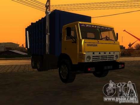 Camión KAMAZ 53212 basura para GTA San Andreas