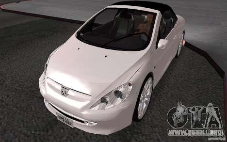 Peugeot 307CC BMS para GTA San Andreas vista hacia atrás