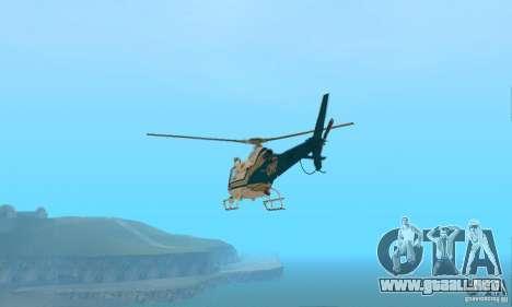 AS350 Ecureuil para GTA San Andreas vista posterior izquierda