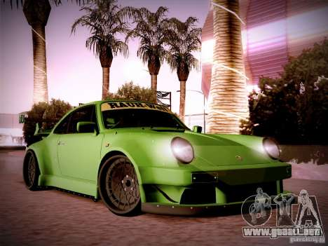 Porsche 911 Turbo RWB Pandora One para visión interna GTA San Andreas