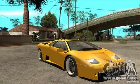 Lamborghini Diablo GT-R 1999 para GTA San Andreas vista hacia atrás