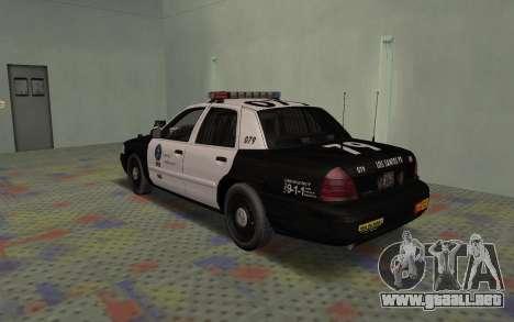 Ford Crown Victoria Police Interceptor LSPD para la visión correcta GTA San Andreas
