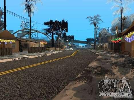 Víspera de año nuevo en la calle Grove para GTA San Andreas séptima pantalla