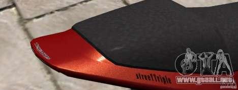 PCJ600 to Triumph StreeTTriple para GTA 4 Vista posterior izquierda