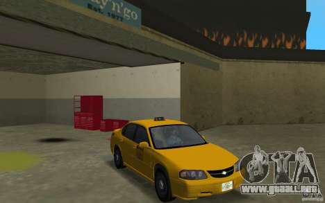 Chevrolet Impala Taxi para GTA Vice City vista posterior