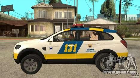 Chevrolet Captiva Police para GTA San Andreas left