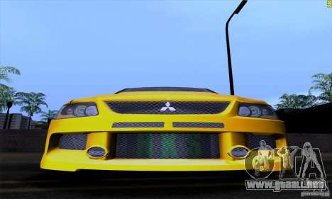 Mitsubishi Lancer Evolution IX 2006 para vista inferior GTA San Andreas