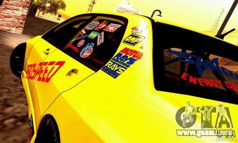 Mitsubishi Lancer Evolution VIII - ProSpeed para GTA San Andreas vista posterior izquierda