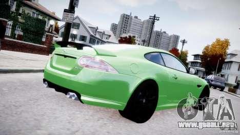 Jaguar XKR-S 2012 para GTA 4 Vista posterior izquierda