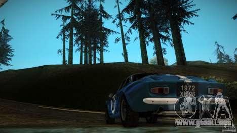 Renault Alpine A110 1600S Rally para visión interna GTA San Andreas