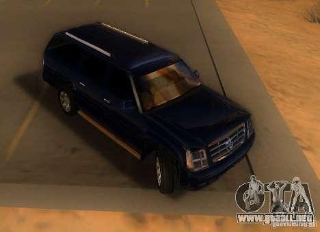 Cadillac Escalade ESV 2006 para GTA San Andreas left