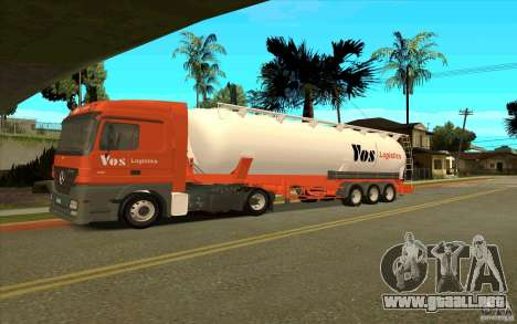 Mercedes-Benz Actros para vista inferior GTA San Andreas