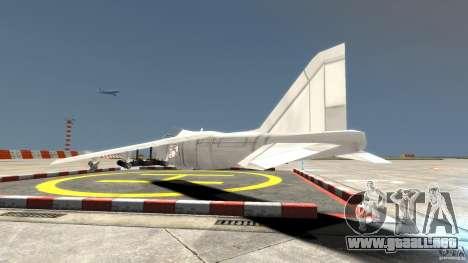 Liberty City Air Force Jet para GTA 4 Vista posterior izquierda