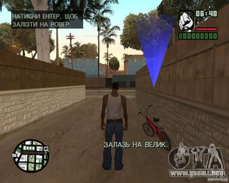 Ukraïnizator 2.0 para GTA San Andreas sexta pantalla