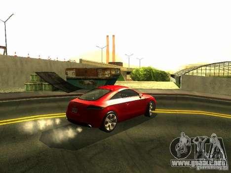 Audi TT 2009 v2.0 para GTA San Andreas vista hacia atrás