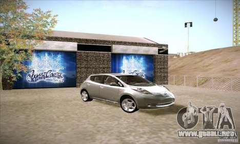 Nissan Leaf 2011 para la visión correcta GTA San Andreas