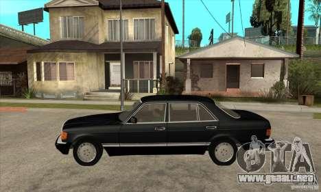 Mercedes Benz W126 560 v1.1 para GTA San Andreas left