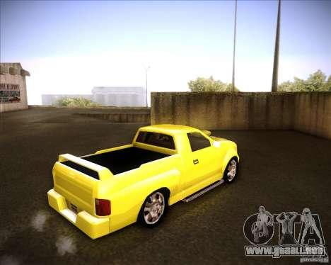 Dodge Dakota tuning para GTA San Andreas vista posterior izquierda
