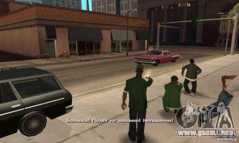 Crack para la versión de vapor del GTA San Andre para GTA San Andreas octavo de pantalla